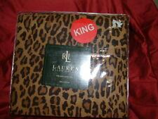 RALPH LAUREN  ARAGON LEOPARD  4 PC  KING SHEET SET  KING PILLOWCASES