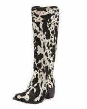 Donald Pliner Willi Womens Calf Hair Western Boots Tall Heeled Size 8 New NIB