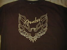 Fender guitar  t shirt in sz M / brown Short sleeve 100% cotton made in USA