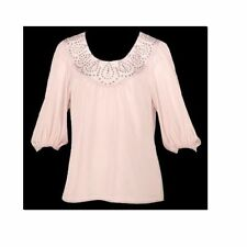 Polyester 3/4 Sleeve Hand-wash Only Regular Tops & Blouses for Women