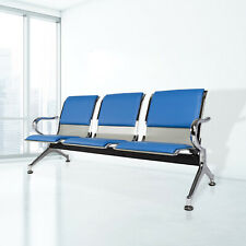 3-Seat Office Waiting Room Chair Reception Bench Visitor Guest Airport Clinic