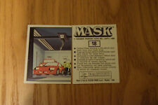 Mask Panini sticker 1986 ( M.A.S.K.  Kenner parker toys ) number 18