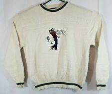 Men's Cypress Links Golf Wear Sweater Embroidered Golfer  off white Size XL