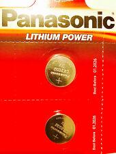 2 X Panasonic CR2032 3V Lithium Coin Cell Battery 2032 UK Trusted Seller