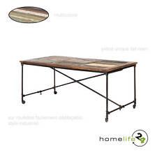 Table de bar table de salle à manger sur roulettes unique style Vintage noir ...