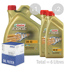 Engine Oil and Filter Service Kit 6 LITRES Castrol EDGE TITANIUM 5w40 FST 6L