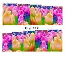 Floral Nail Art (Water Decal Wraps) Tulips Nail Art Decals