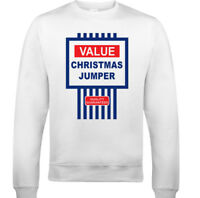 Tesco Value Christmas Jumper Mens Funny Sweatshirt Ugly Jumper Xmas