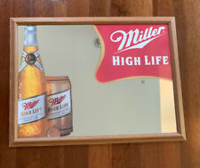 Large Vintage Framed Miller High Life Mirror Sign The Champagne Of Beers