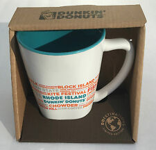 Dunkin Donuts Destinations Coffee Mug Cup 12oz RHODE ISLAND RI Ceramic 2017