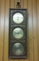 Springfield Weather Station Thermometer Hygrometer Barometer Vintage Wall Decor