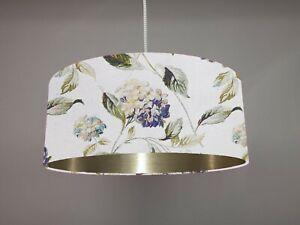 Rare New Vintage Laura Ashley Hydrangea Indigo Fabric Lampshade *Choose lining*