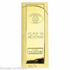 Edles Goldbarren Gas Feuerzeug mit Geschenkbox @ Marken Qualität zum Hammerpreis