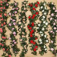 Artificial Flower Silk Rose Leaf Garland Vine Ivy Wedding Landscaping Ksy