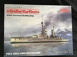 Grober Kurfurst WW1 German Battleship 1:700 Scale model kit number s.015