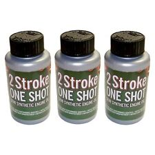 3 X Dos (2) tiempos aceite One Shot Botellas Ideal Para Motosierra Husqvarna 50:1 Mix