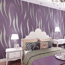 UK 10M Luxury Purple 3D Victorian Damask Embossed Wallpaper Rolls Home Art Decor