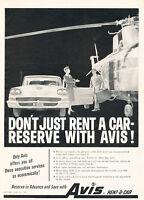1958 Avis Ford Helicopter Reserve - Vintage Advertisement Car Print Ad J485