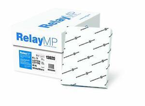 Relay MP Copy Paper 20lb 92 Bright Letter Size 10 Ream Carton Case 5000 Sheets