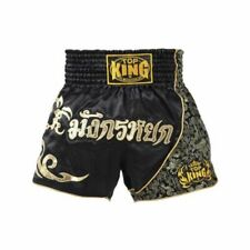 Top King Muay Thai Kick Boxing Kickboxing Mma Black Gold Shorts Tktbs-089 Usa