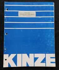 KINZE 500 1000 1600 M130 SPRAY KART SPRAYER OPERATOR & PARTS CATALOG MANUAL NICE