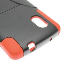 For LG Google Nexus 5 Orange Black Case Hybrid Stand Heavy Duty Cover