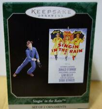 Hallmark Singin' Singing in the Rain Gene Kelley Mini Christmas Ornament Set 2