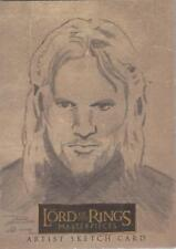 """Lord of the Rings Masterpieces - Brian Rood """"Aragorn"""" Sketch Card"""
