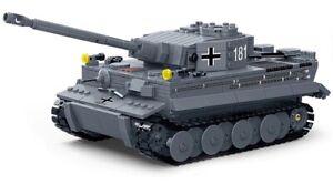 World War 2 German Tank Tiger I Bricks Building Blocks Set of 1010pcs New