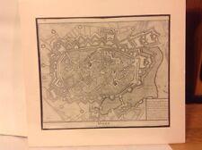 Antique Map-MONS- Capital City Utrecht -Tindal Rapin's History England 1709