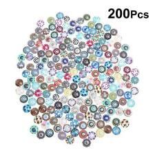 200Pcs Glass Crystal Mosaic Tiles Cabochons Bracelet Crafts Jewelry Making DIY