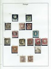 Portugal  1856-1880  16stamps