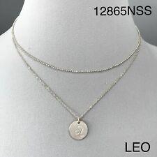 Silver Finish Dainty Double Layer Leo Zodiac Constellation Pendant Necklace