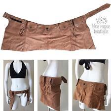 Camel Suede Leather Utility Pocket Elf Pixie Pouch Festival Belt Half Skirt