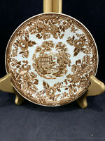 "Tonquin Royal Staffordshire By Clarice Cliff 5 7/8"" Saucer Brown Made In England"