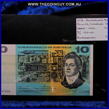 1972 Australian Ten Dollar Notes Unc Phillips/Randall, Anacronym TAT