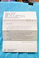 BART Bulletin #208 - End of Construction Delay - 2/21/86
