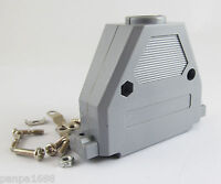 1 set Grey D-Sub DB37 37Pin Plastic Hood Cover for 37 Pin 2 Row D-Sub Connector