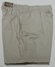 Womens White Stag Pull On Cotton Shorts-S-M-L-XL-XXL
