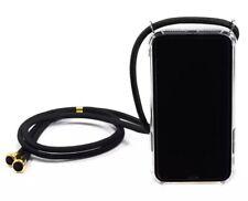 Funda de silicona transparente con correa cordón para iPhone 11,XR,XS max,7,8