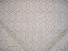 19-3/4Y SWAVELLE / MILL CREEK EMBROIDERED CIRCLE LINEN DRAPERY UPHOLSTERY FABRIC