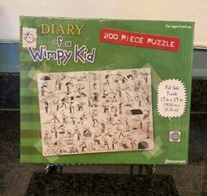 2010 Pressman Sealed Diary of a Wimpy Kid Puzzle New 200 Pieces