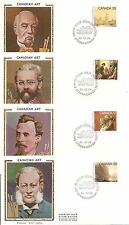 Canada Sc # 849-852 Royal Canadian Academy Of Arts Fdc.4 Covers ,By Colorano
