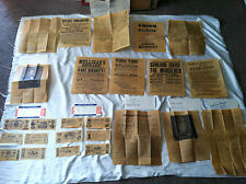Vintage 1961 Antiqued Repro Civil War Posters & Confederate Currency Sets A & B