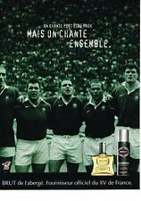 PUBLICITE ADVERTISING  2003 BRUT    déodorant