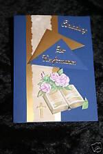 Einladungskarten Kommunion o.Konfirmation HANDARBEIT !!