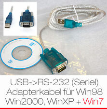 USB AUF SERIELL SERIEL RS-232 RS232 COM VISTA WINDOWS 7 ADAPTOR CABLE