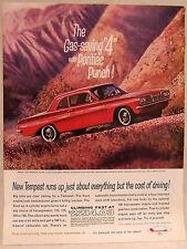 Vintage Magazine Ad for 1962 Pontiac Tempest Coupe Car Gas Saving