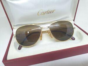 Vintage CARTIER ROMANCE SANTOS RARE Men's Sunglasses 54MM FRANCE