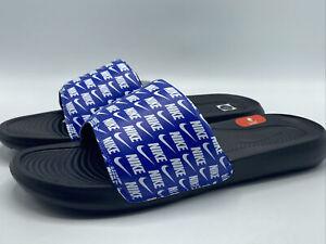 Nike Victori One Slide Print Men's Size 11 Royal Blue and Black - New in Box!